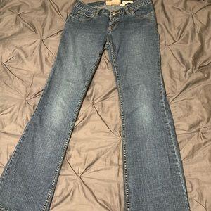 Women's Boot Cut Low Waist Denim Jeans